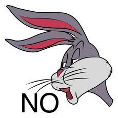 Bugs Bunny's No Meme Sticker