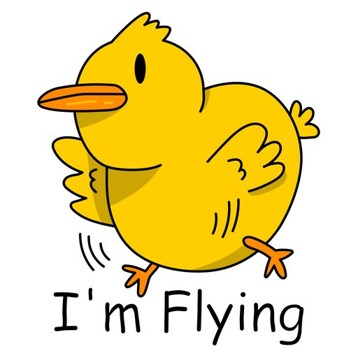 Chick I'm Flying Meme Sticker