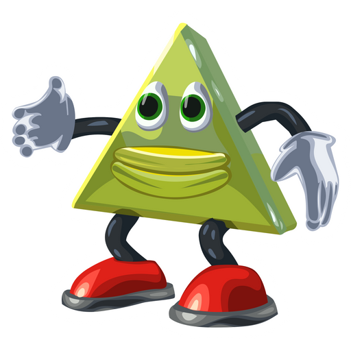 Dancing Triangle Meme Sticker
