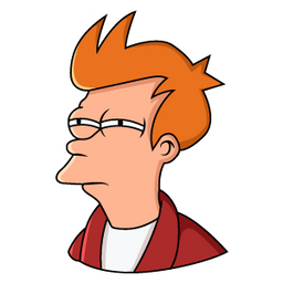 Futurama Fry Not Sure If Meme Sticker