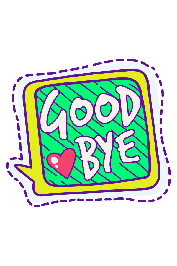 Goodbye Sticker