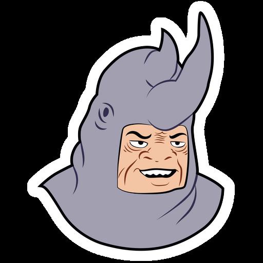Me and the Boys Meme Rhino Sticker