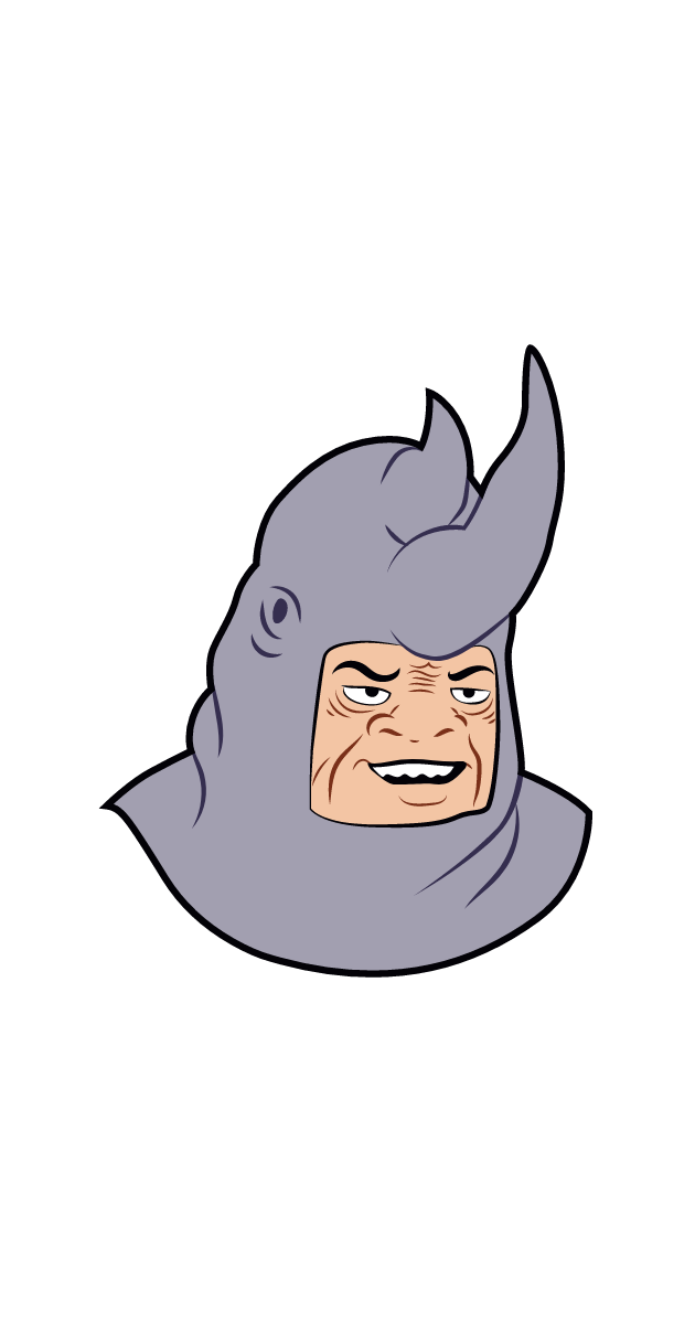 Me and the Boys Meme Rhino Sticker