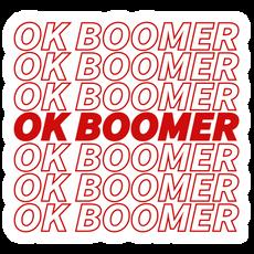 OK Boomer Red Lettering Sticker