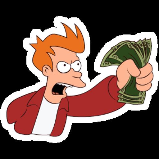 Shut Up And Take My Money Meme Sticker