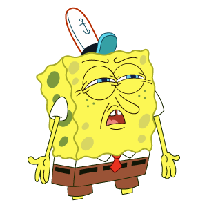 SpongeBob Who Put You on the Planet Meme Sticker