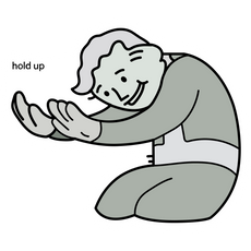 Vault Boy Hold Up Meme Sticker