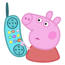 Peppa Pig Hanging Up Meme Sticker