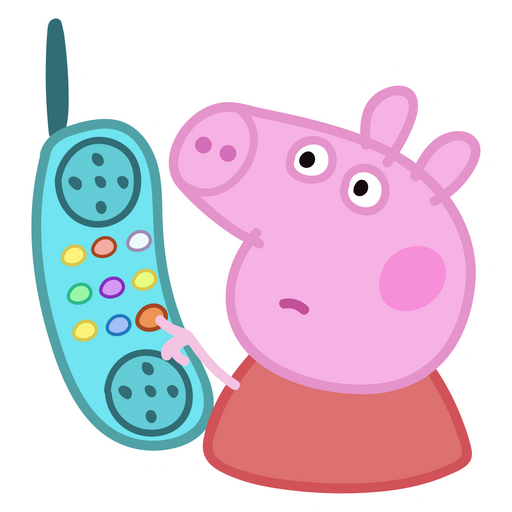Peppa Pig Hanging Up Meme Sticker