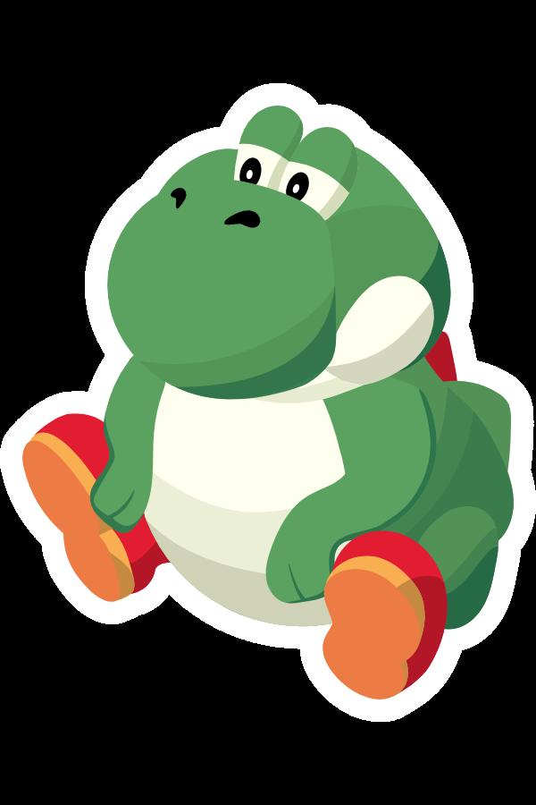 Fat Yoshi Meme Sticker