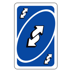 Uno Reverse Card Meme Sticker