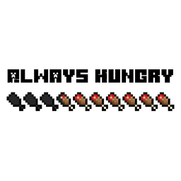 Minecraft Always Hungry Sticker