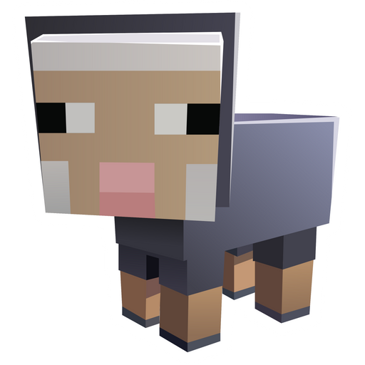 Minecraft Baby Sheep Sticker