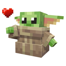 Minecraft Baby Yoda Sticker