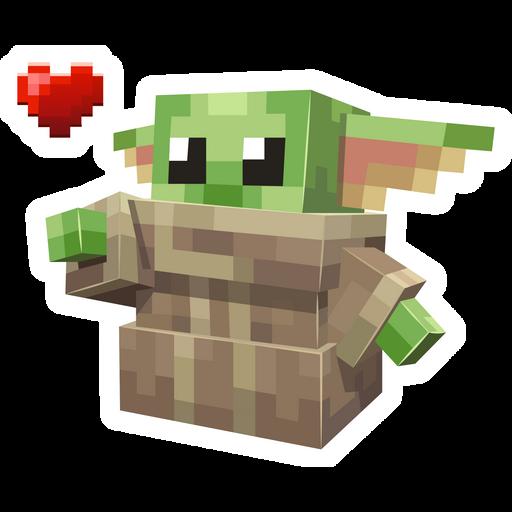 Minecraft Baby Yoda Sticker