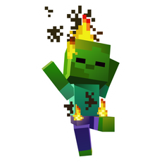 Minecraft Burning Baby Zombie Sticker