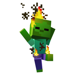Minecraft Burning Baby Zombie Sticker