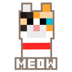 Minecraft Calico Cat Meow Sticker