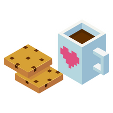 Minecraft Coffee and Cookies Sticker
