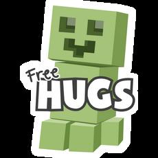 Minecraft Creeper Free Hugs Sticker