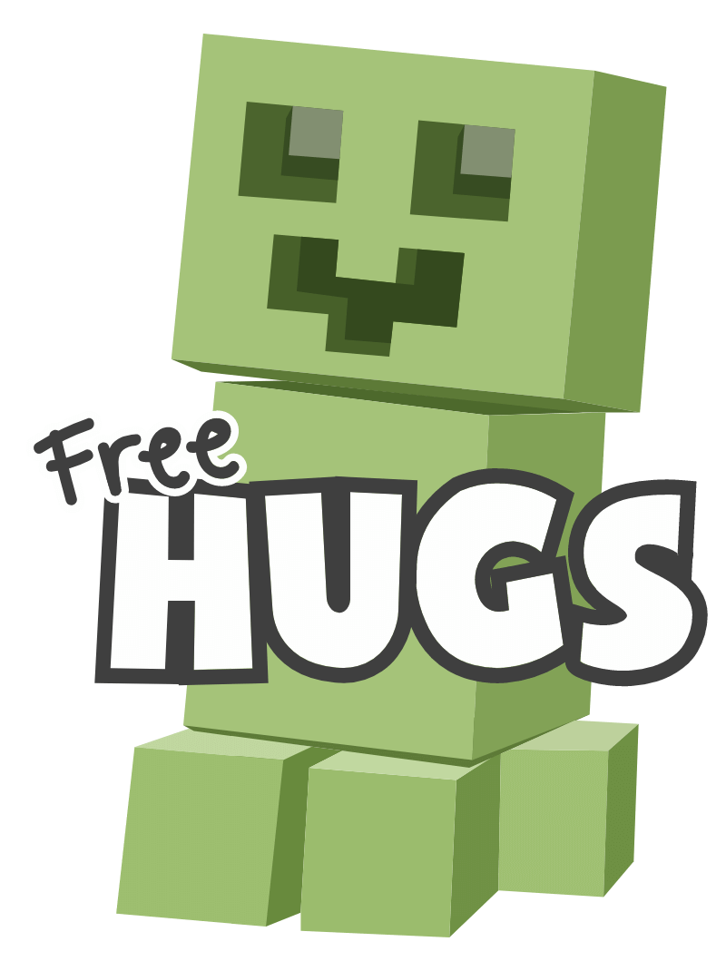 Minecraft Creeper Free Hugs Sticker