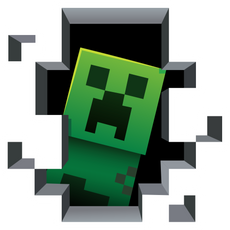 Minecraft Creeper Inside Sticker