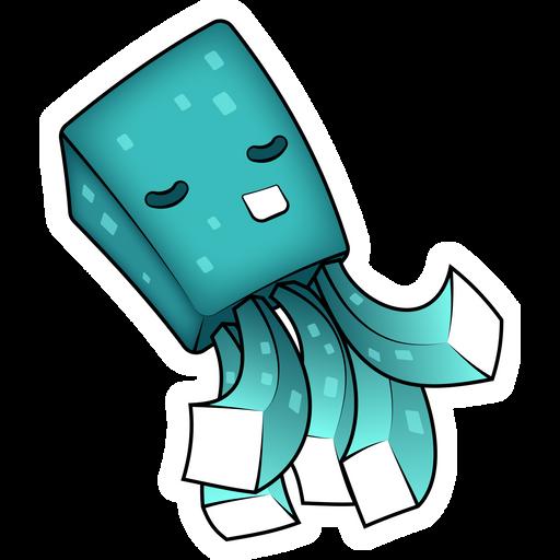 Minecraft Cute Squid Sticker