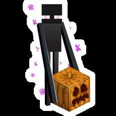 Minecraft Enderman with Halloween Pumpkin