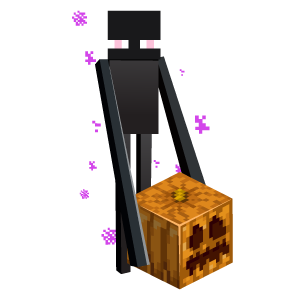 Minecraft Enderman with Halloween Pumpkin