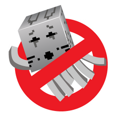 Minecraft Ghastbusters Logo Sticker