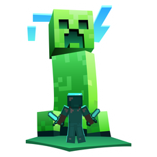 Minecraft Giant Creeper and Steve Sticker