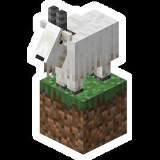 Minecraft Goat on Grass Block Sticker