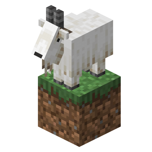Minecraft Goat on Grass Block Sticker