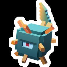 Minecraft Guardian Sticker