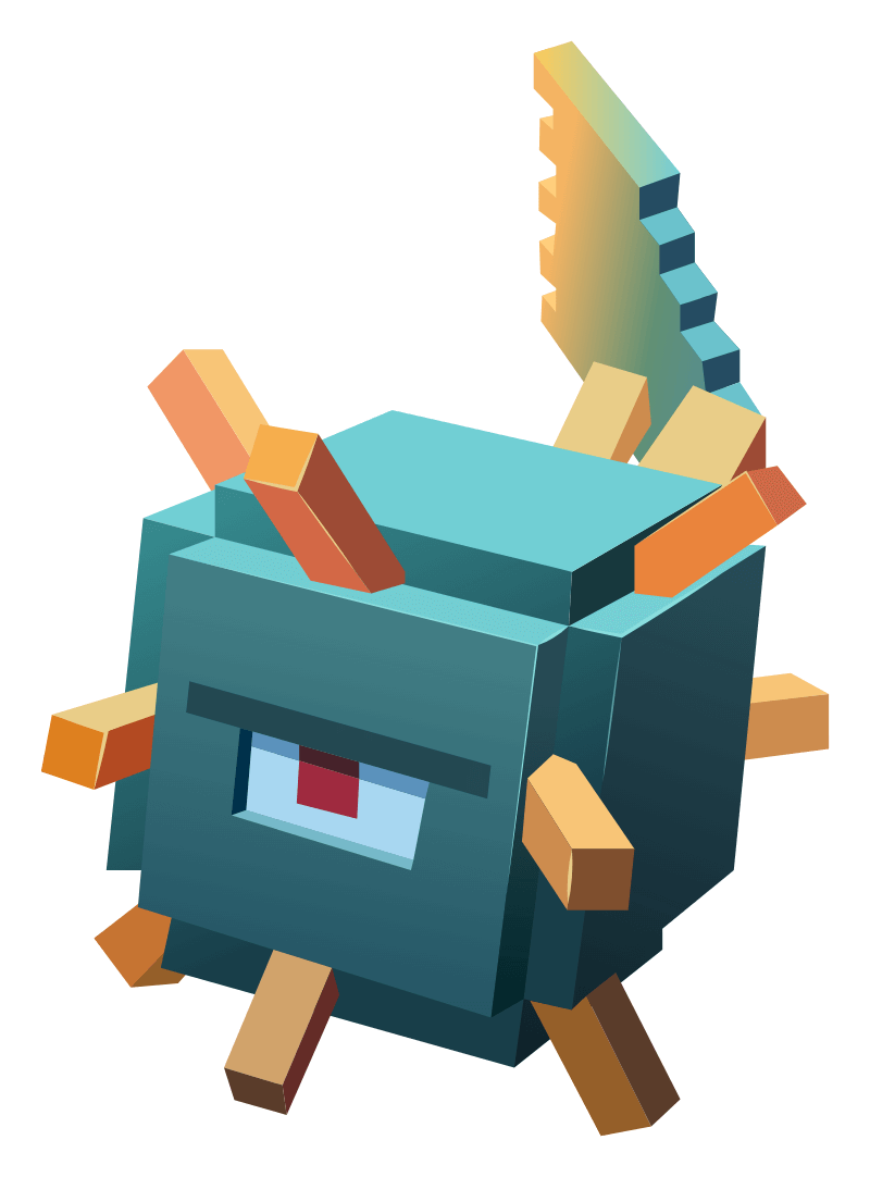 Minecraft Guardian Sticker