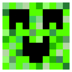 Minecraft Happy Creeper Sticker