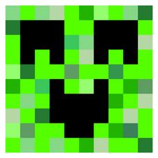 Minecraft Happy Creeper Sticker