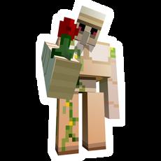 Minecraft Iron Golem with Flower Sticker