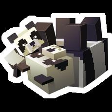 Minecraft Pandas Sticker
