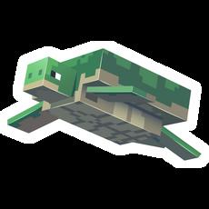 Minecraft Turtle Sticker
