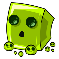 Minecraft Cute Slime Sticker