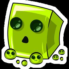 Minecraft Cute Slime Sticker
