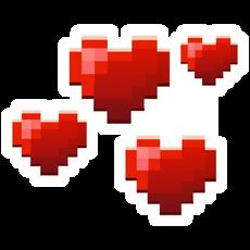 Minecraft Love Hearts Sticker