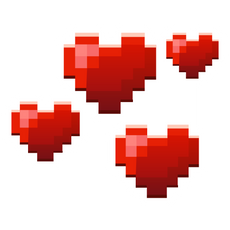 Minecraft Love Hearts Sticker