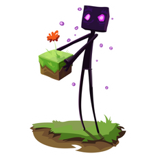 Minecraft Cute Enderman Sticker