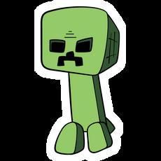 Minecraft Cartoon Creeper Sticker