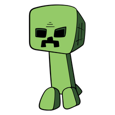 Minecraft Cartoon Creeper Sticker