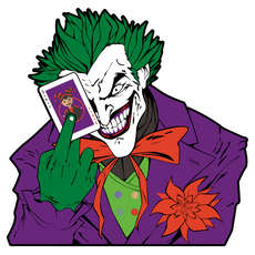 Joker with a Card Sticker