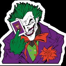 Joker with a Card Sticker
