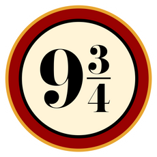 Harry Potter Platform Nine and Three-Quarters Sticker